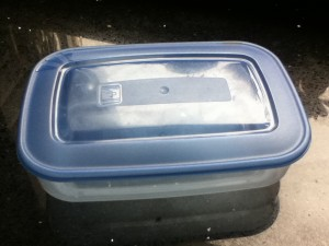 Oude lunchbox