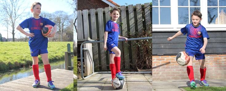 Wie verras jij met een voetbaltenue?